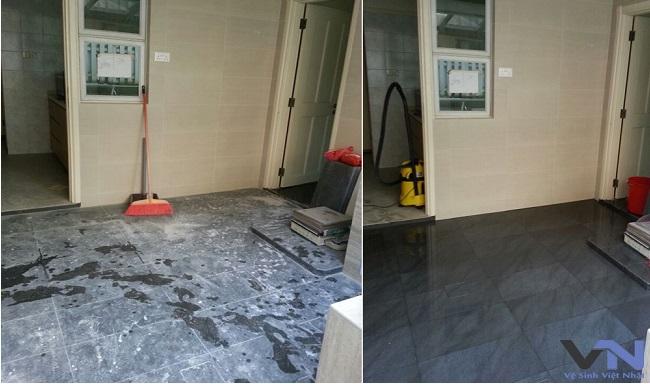 nhà trước và sau khi vệ sinh