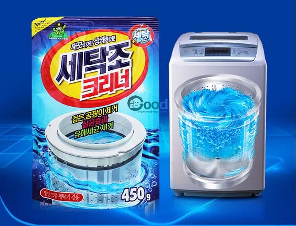 Hướng dẫn cách sử dụng bột tẩy vệ sinh lồng máy giặt đúng cách