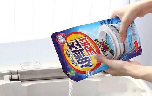 hướng dẫn cách sử dụng bột tẩy vệ sinh lồng giặt