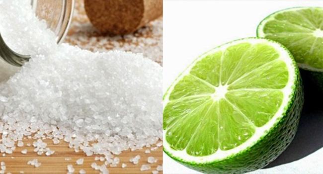 tẩy rỉ sét bằng muối và chanh