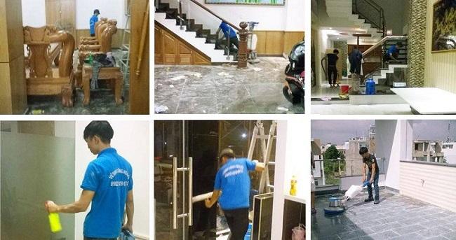 dịch vụ vệ sinh công trình sau khi thi công tại tiền giang