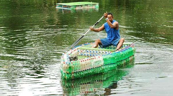 cách làm thuyền bằng chai nhựa