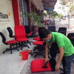 Sofa washing service at Hanoi house