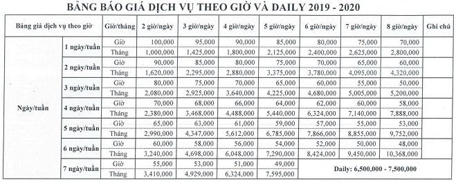 bảng giá dịch vụ vệ sinh văn phòng hằng ngày