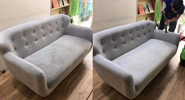 cách giặt ghế sofa vải tại nhà